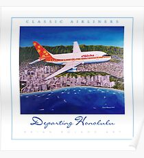 Departing Honolulu Classic Airliners ver 2 Poster