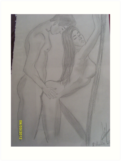 postcards Erotic couples artwork