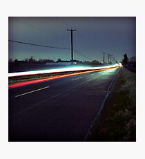 Blue Roads Photographic Print