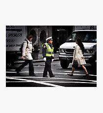 Police Calm Photographic Print