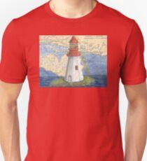 Lonely Island Lighthouse Ontario Map Cathy Peek Unisex T-Shirt