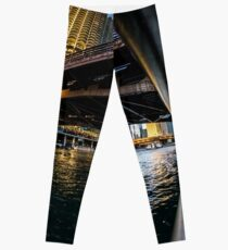fisheye from Chicago river walk Leggings