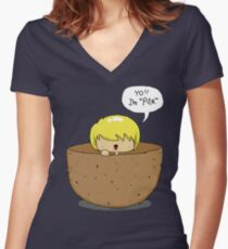 Peeta.. inside a PEETA. PEETA-CEPTION. Women's Fitted V-Neck T-Shirt