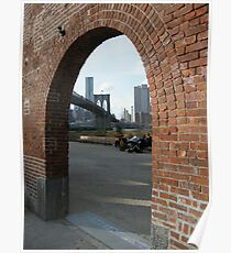 View of Brooklyn Bridge from Brooklyn Bridge Park, New York Poster