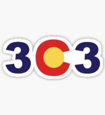 303 letters Sticker