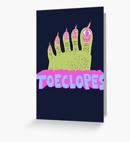 Toeclopes Greeting Card