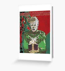 Merry Christmas Pinhead Greeting Card