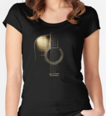 Acoustic Guitar Lite (please see description) Women's Fitted Scoop T-Shirt