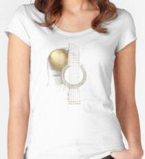 Acoustic Guitar Lite (please see description) Women's Fitted Scoop T-Shirt