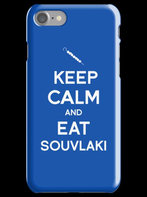 Keep Calm and Eat Souvlaki by tombst0ne