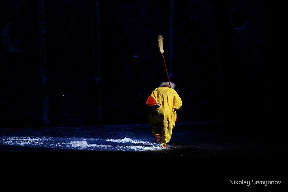 Slava Polunin's Snowshow in Rostov Two by Nikolay Semyonov