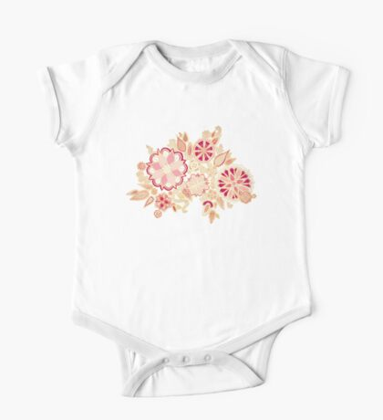 Golden Embroidery Flowers Kids Clothes