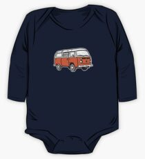 Bay Window Campervan Orange One Piece - Long Sleeve