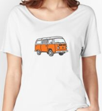 Bay Window Campervan Orange Women's Relaxed Fit T-Shirt