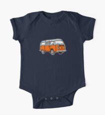 Bay Window Campervan Orange One Piece - Short Sleeve