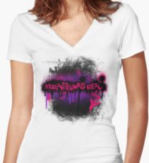 Moriarty was real (orchid) Women's Fitted V-Neck T-Shirt