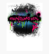 Moriarty was real (rave) Photographic Print