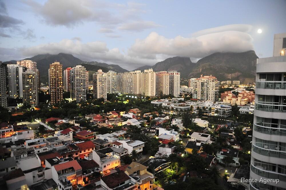 Rio de Janeiro in the evening by Bente Agerup