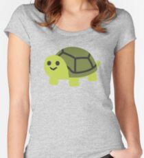EMOJI TURTLE Women's Fitted Scoop T-Shirt