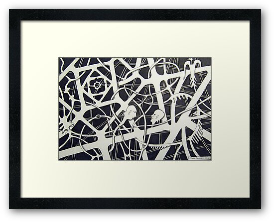 236 - THE MEETING - DAVE EDWARDS - INK - 2012 by BLYTHART