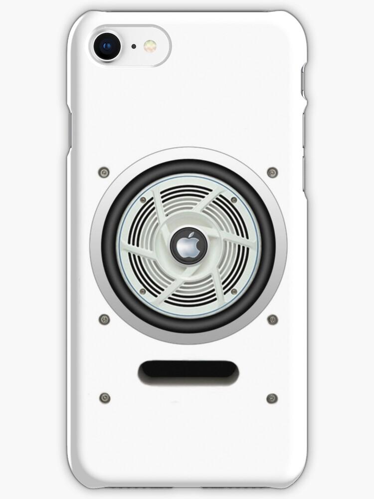 SPEAKER IPHONE CASE 4 (White eddition) by ALIANATOR
