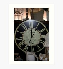 French clockface Art Print