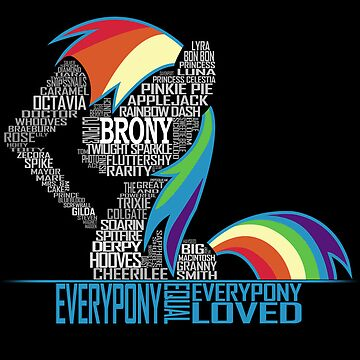 Brony Typography POSTER by NorthernDash