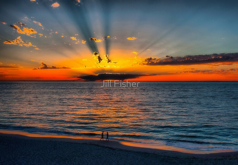 The Sun Burst Through the Clouds by Jill Fisher