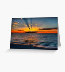 The Sun Burst Through the Clouds Greeting Card