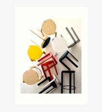 It's chairy out there  Art Print