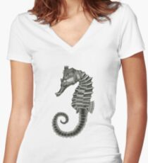 Seahorse Women's Fitted V-Neck T-Shirt