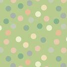 Bright pistachio polka dots by Morag Anderson