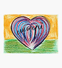 Signed heart Photographic Print