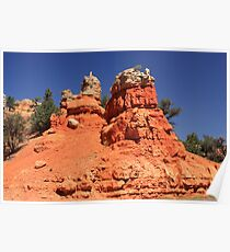 Canyon Sculptures Poster