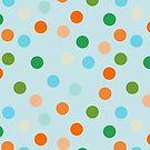 Beach polka dots - paler blue by Morag Anderson