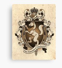 Wolf Coat Of Arms Heraldry Canvas Print