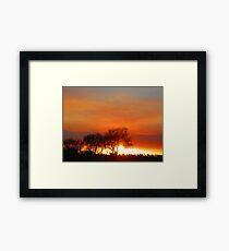 Bush Fire. Framed Print