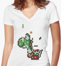 Yoshi Tetris Women's Fitted V-Neck T-Shirt