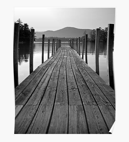 Blissful Morning on Lake George Poster