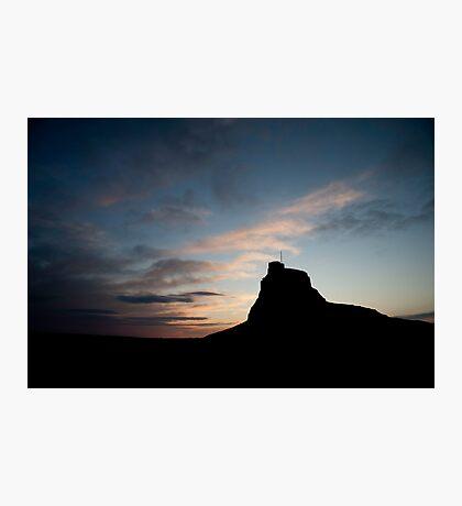 Lindisfarne Castle Sun Rise Photographic Print