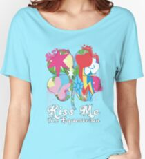 Kiss Me I'm Equestrian Women's Relaxed Fit T-Shirt