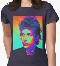 Bob Dylan Psychedelic Women's Fitted T-Shirt