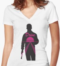 A Real Hero Women's Fitted V-Neck T-Shirt
