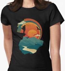 Camiseta entallada para mujer Borde del acantilado