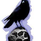 Skull & Black Crow by thesamba