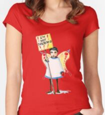 I'm not interested Women's Fitted Scoop T-Shirt