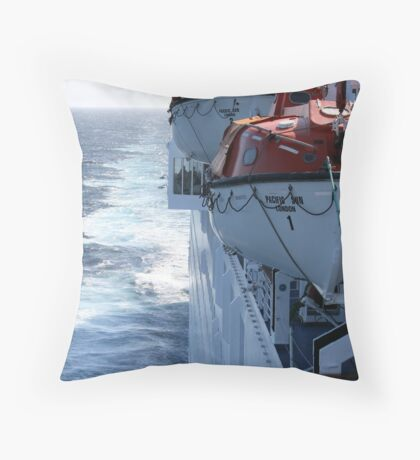 Pacific Sun Underway Throw Pillow