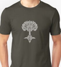 Celtic Tree - White Unisex T-Shirt