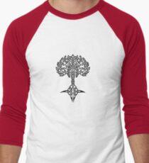 Celtic Tree - Black Men's Baseball ¾ T-Shirt
