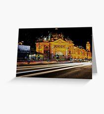 City Rush Greeting Card